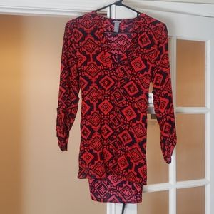 Red design blouse